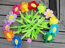 flores peluche