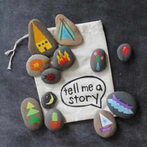 pintar rocas niños jardín