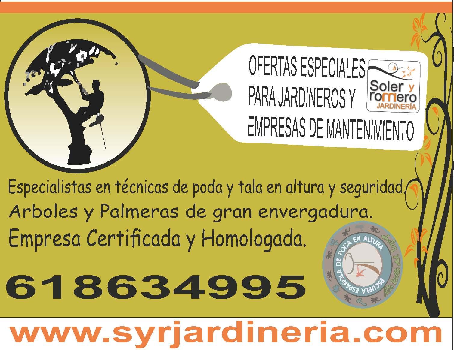 Jardineros y empresas de mantenimiento soler y romero for Empresas de jardineria en girona